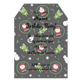 Black frogs santa claus snowmen 5x7 paper invitation card