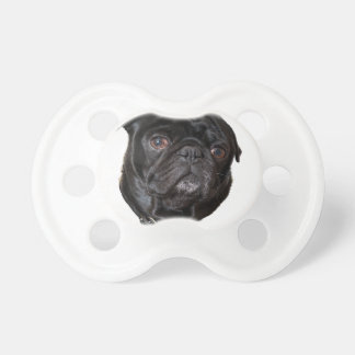 Black Funny Pug Pacifier