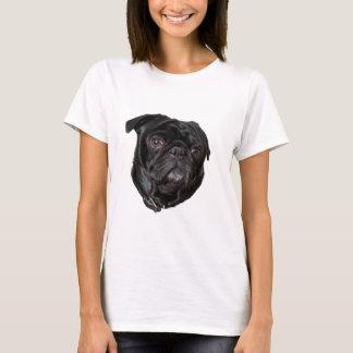 Black Funny Pug T-Shirt