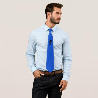 Black gecko tie