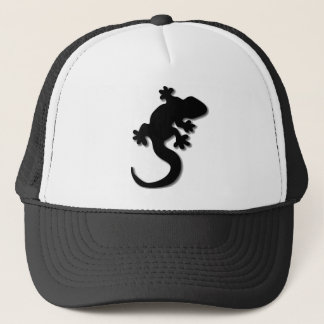 Black gecko trucker hat