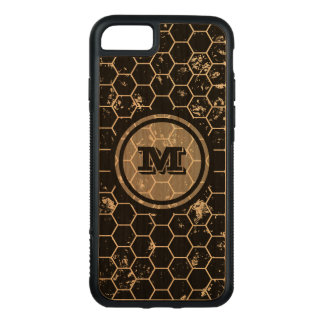 Black Geometric Monogram Carved iPhone 8/7 Case