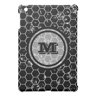 Black Geometric Monogram iPad Mini Case