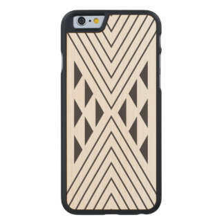 Black Geometric triangle Carved Maple iPhone 6 Case