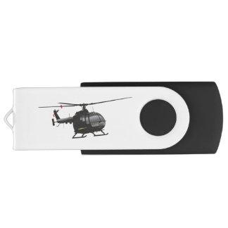 Black German Light Helicopter Flash Drive