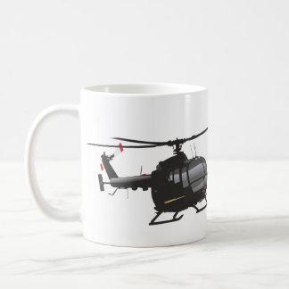 Black German light helicopter mug