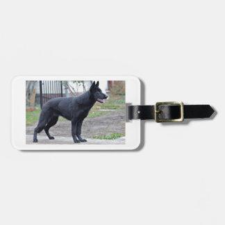 black-german-shepherd-full luggage tag