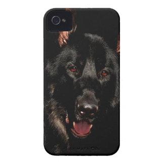 Black German Shepherd iPhone 4 Case-Mate Case