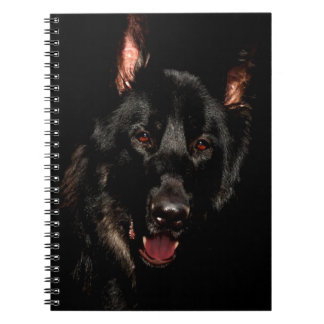 Black German Shepherd Notebook