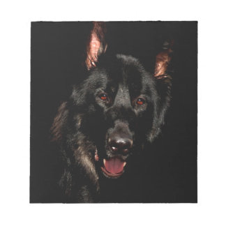 Black German Shepherd Notepad