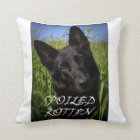 black german shepherd spoiled rotten throw pillow