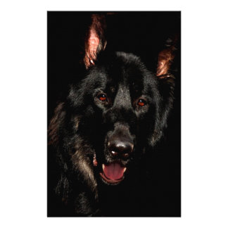 Black German Shepherd Stationery