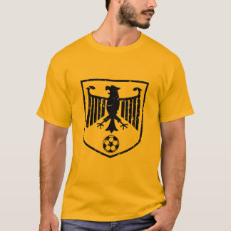 Black Germany Coat of Arms Soccer Grunge T-Shirt