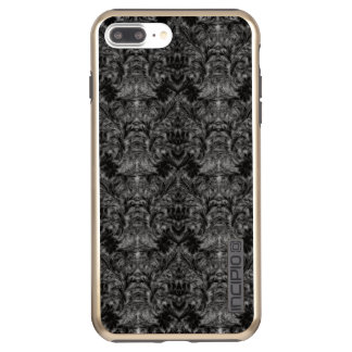 Black Ghost Shadow Blur Damask Illusion Incipio DualPro Shine iPhone 8 Plus/7 Plus Case