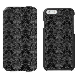 Black Ghost Shadow Blur Damask Illusion Incipio Watson™ iPhone 6 Wallet Case