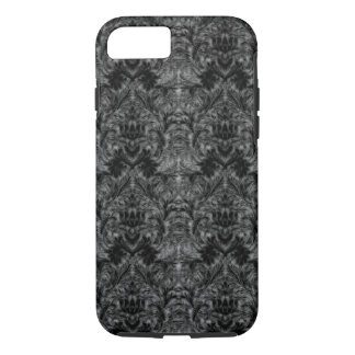 Black Ghost Shadow Blur Damask Illusion iPhone 7 Case