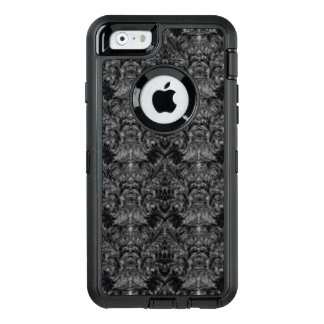 Black Ghost Shadow Blur Damask Illusion OtterBox Defender iPhone Case