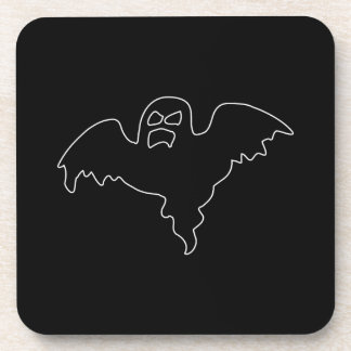 Black Ghost spooky image Beverage Coasters