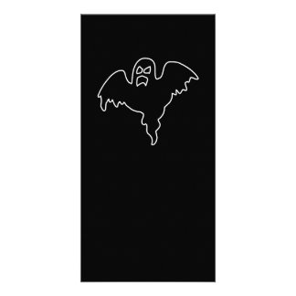 Black Ghost spooky image Photo Greeting Card