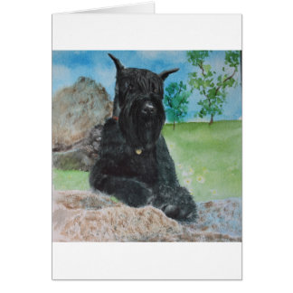 Black Giant Schnauzer Card