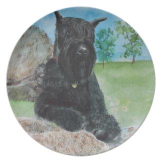 Black Giant Schnauzer Plate