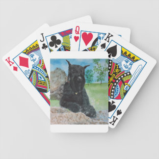 Black Giant Schnauzer Poker Deck