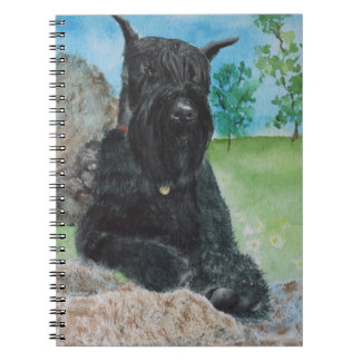 Black Giant Schnauzer Spiral Notebook