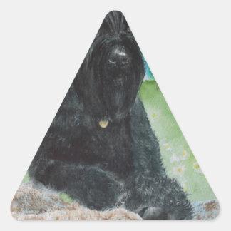 Black Giant Schnauzer Triangle Sticker