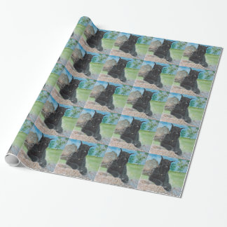 Black Giant Schnauzer Wrapping Paper