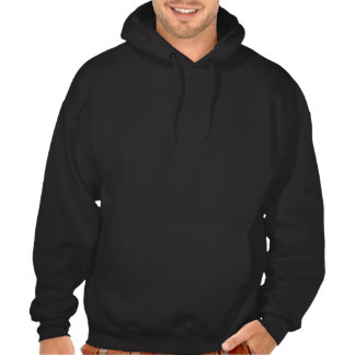 Black Gingham and flowers Hooded Pullover