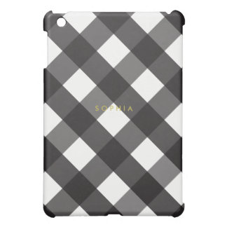 Black Gingham iPad Mini Case