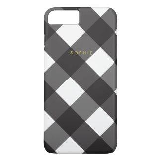 Black Gingham iPhone 7 Plus Case