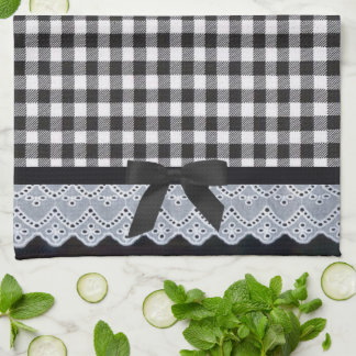 Black Gingham Kitchen Towel