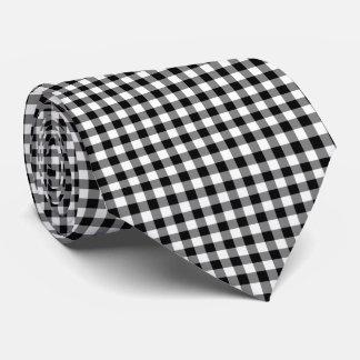 Black Gingham  Necktie