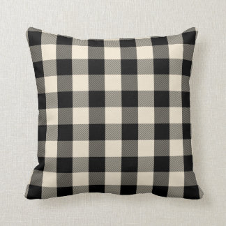 Black gingham pillow
