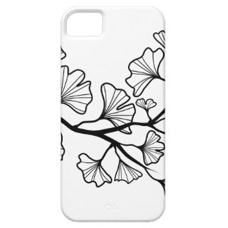 black ginkgo tree with leaves case for the iPhone 5