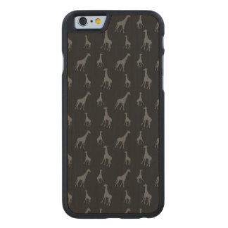 Black giraffes carved® maple iPhone 6 slim case