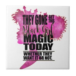 Black Girl Magic Affirmation Tile