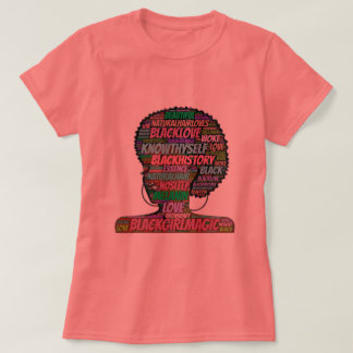 Black Girl Magic Word Cloud T-Shirt