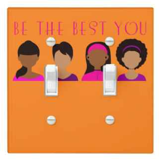 Black Girls Be The Best You Light Switch Cover