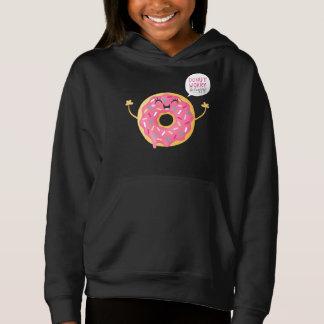 Black Girls Hoodie Sweets Donut Worry Be Happy