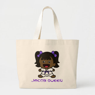 Black Girl's Karate Tote Bag