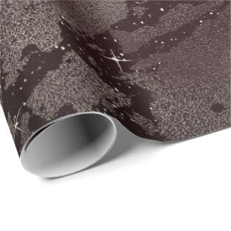 Black Glam Abstract Caffe Noir Metallic Glass