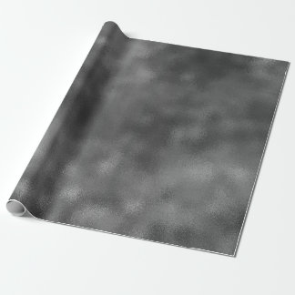 Black Glam Glass Ombre Corporate Industrial VIP Wrapping Paper