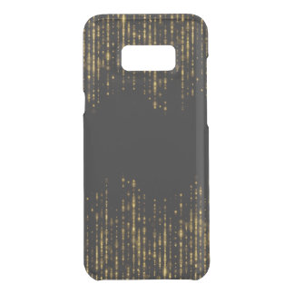 Black & Glam Gold Glitter Beads Uncommon Samsung Galaxy S8 Plus Case