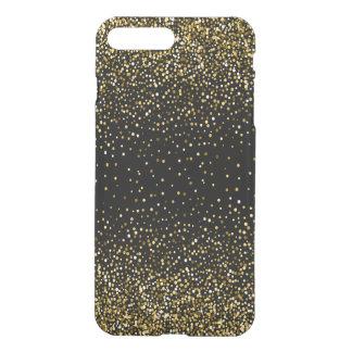 Black & Glam Gold Glitter Confetti Design 02 iPhone 8 Plus/7 Plus Case