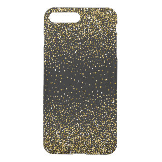 Black & Glam Gold Glitter Confetti iPhone 8 Plus/7 Plus Case