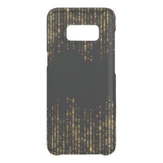 Black & Glam Gold Glitter Design Uncommon Samsung Galaxy S8 Case