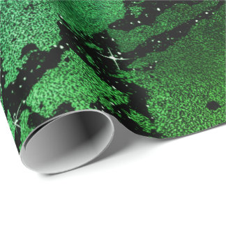 Black Glam Marble Abstract Tropical Metallic Glass