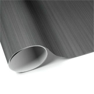Black Glass Metallic Corporate Industrial VIP Lux Wrapping Paper
